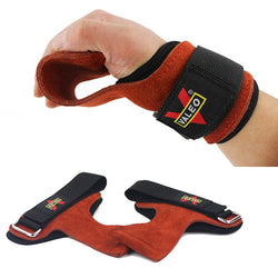 Grips Weight Lifting Gloves Heavy Duty Straps Alternative Power Lifting Wrist Wraps - CTHOPER