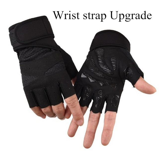2019 Men/Women Fitness Half Finger Gloves - CTHOPER