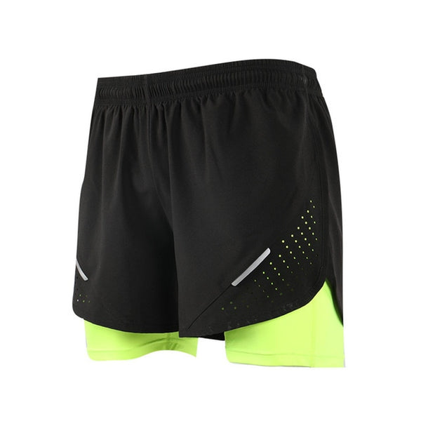 Men's 2 in 1 Training Exercise Basketball Shorts - CTHOPER
