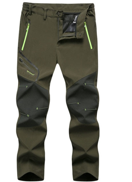 Men Hiking Trekking Fishing Plus Size Oversized Waterproof Outdoor Pants - CTHOPER