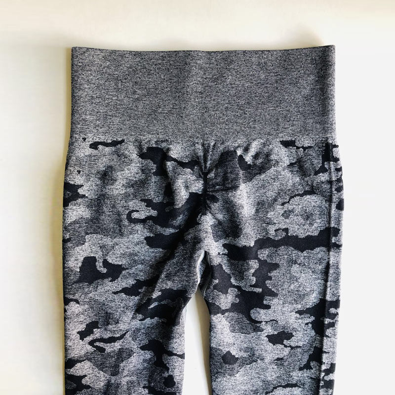 Women's High Waist Camo Seamless Leggings - CTHOPER