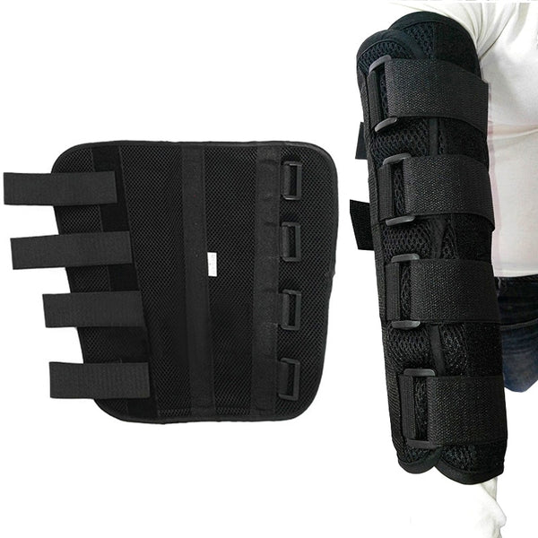 Adjustable Elbow Joint Recovery Arm Splint Brace Support Protect Band Belt Strap - CTHOPER