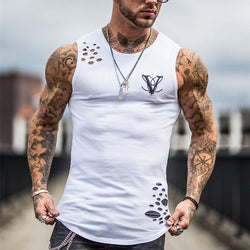 2019 New Men's Summer Sleeveless Running Tank Top - CTHOPER