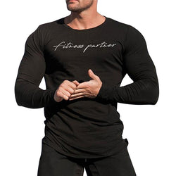 "Men's Long Sleeve Running ""Fitness Partner"" T Shirts - CTHOPER"