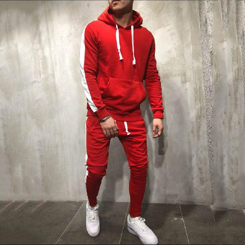 2019 Men's Winter Running Hoodies + Track Pants Sets - CTHOPER