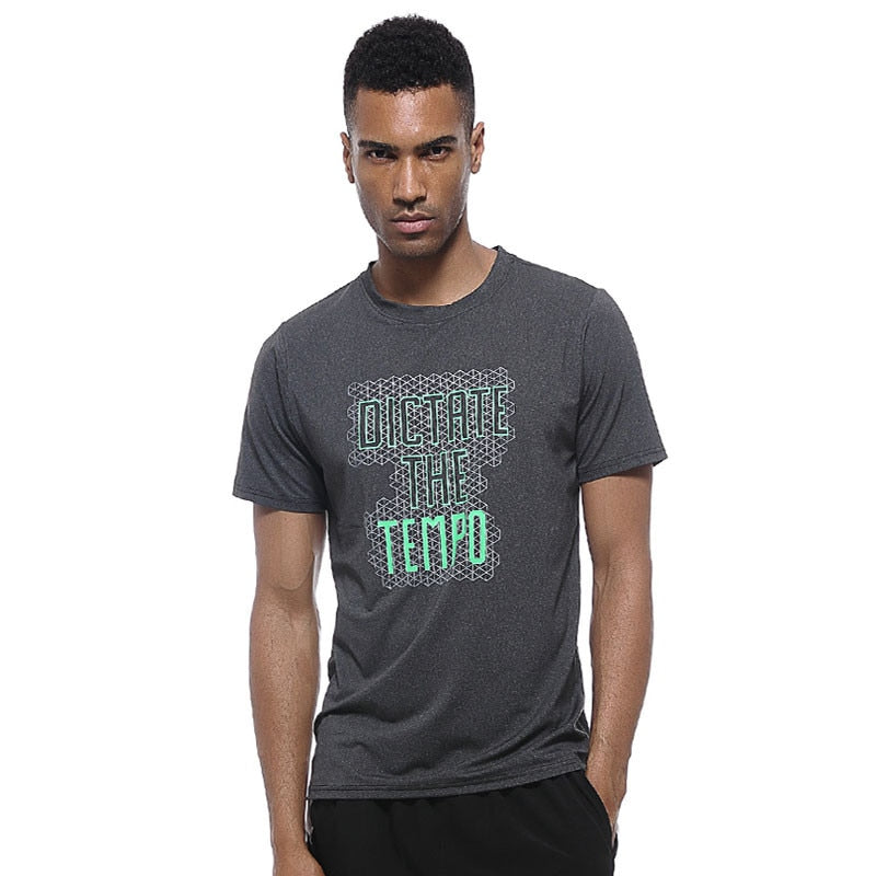 "Men's ""DICTRTE THE TEMPO"" Summer Running T-Shirts - CTHOPER"