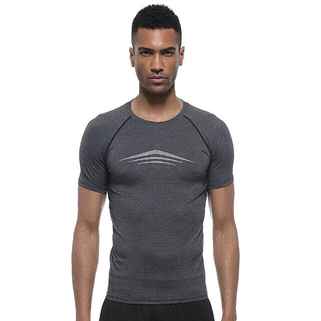 Men's Short Sleeve Fitness T Shirts - CTHOPER
