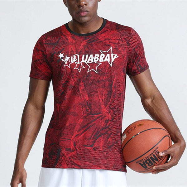 Men's Short Sleeved Basketball T Shirts With Five Stars and China - CTHOPER