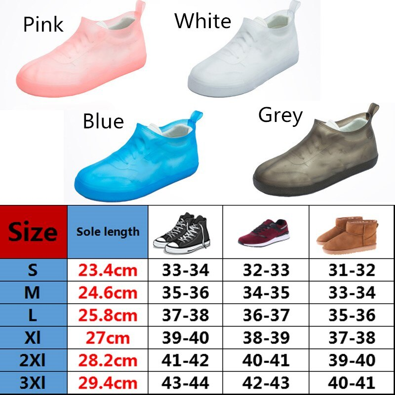 Rubber Waterproof Reusable Rain Shoes / Boot Covers - CTHOPER