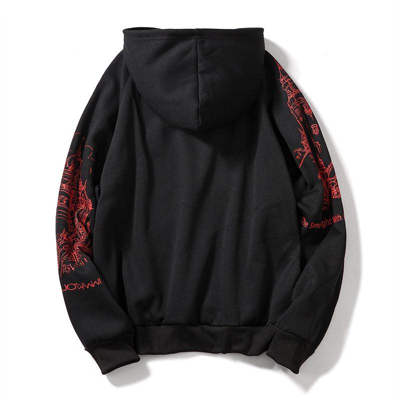 Men's Autumn Hip Hop Hoodies Sweatshirts - CTHOPER