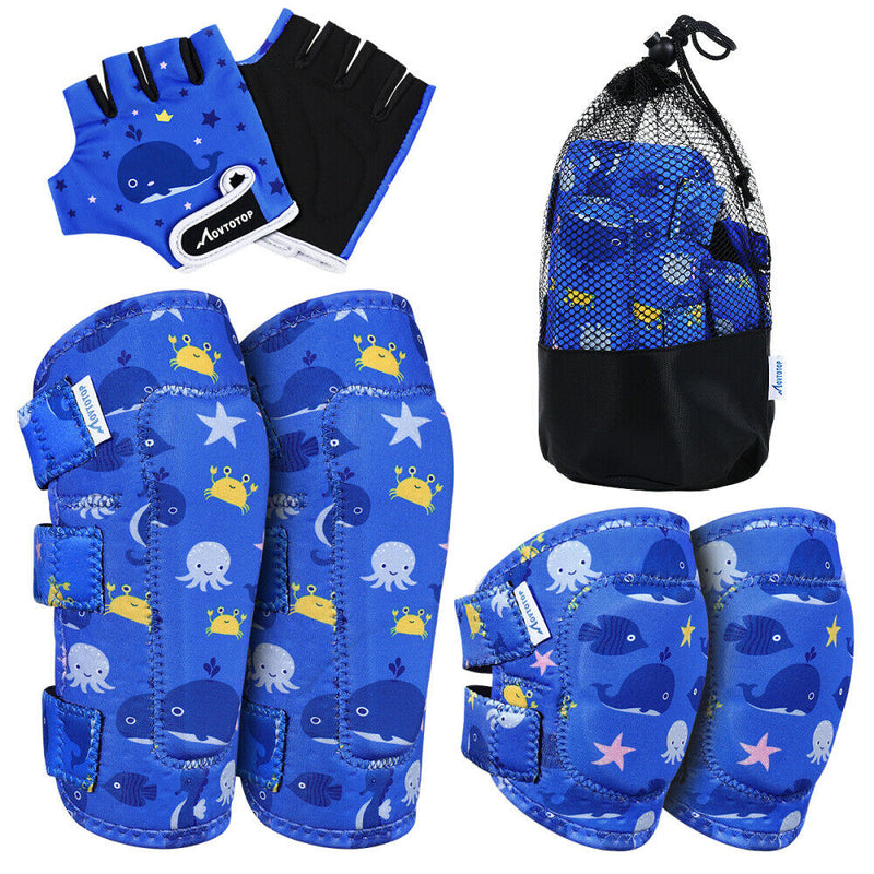 6pcs/set Protective Gear Kids Sports Bike Bicycle Elbow and Knee Pad Set