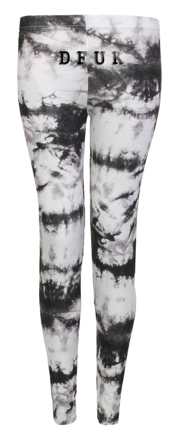 LADIES WOMEN'S FULL LENGTH MULTI PRINT LEGGINGS CASUAL JEGGINS PANTS SIZE 8-22