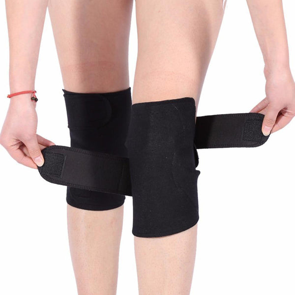 CTHOPER Self Heating Tourmaline Magnetic Therapy Knee Brace Sleeve - 1Pair - CTHOPER