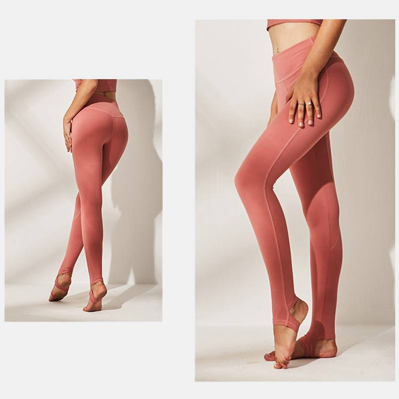 Women's Leg Opening Cross Straps Yoga Leggings - CTHOPER