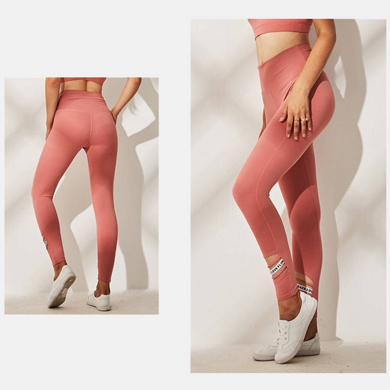 Women's High Waist Running Sports Leggings - CTHOPER