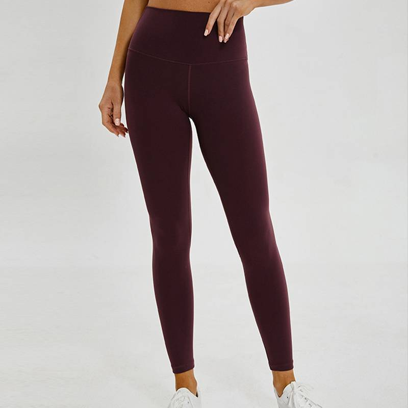 Women's 7/8 High-Waisted Solid Yoga Leggings - CTHOPER