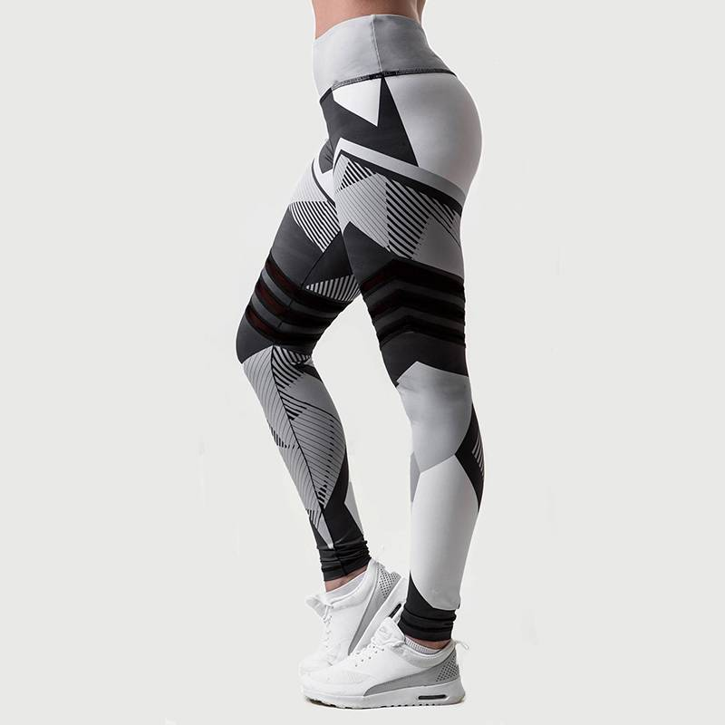 Women's High Waist Color Block Push Up Workout Leggings - CTHOPER