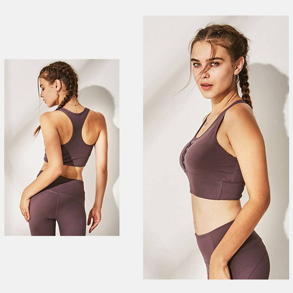 Women's Classic Running Compression Sports Bra - CTHOPER