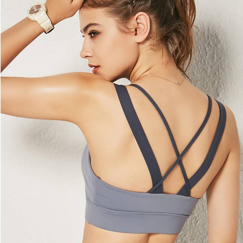 Women's Cross Back Medium Impact Sports Bra - CTHOPER