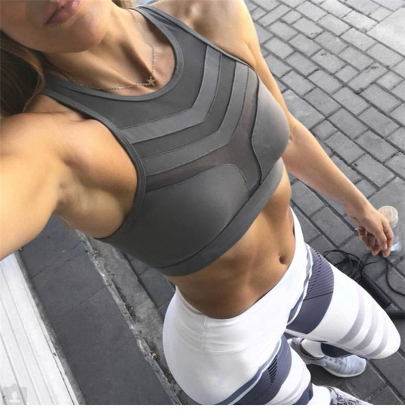 Women's Lace-Up Mesh Low Impact Sports Bra - CTHOPER