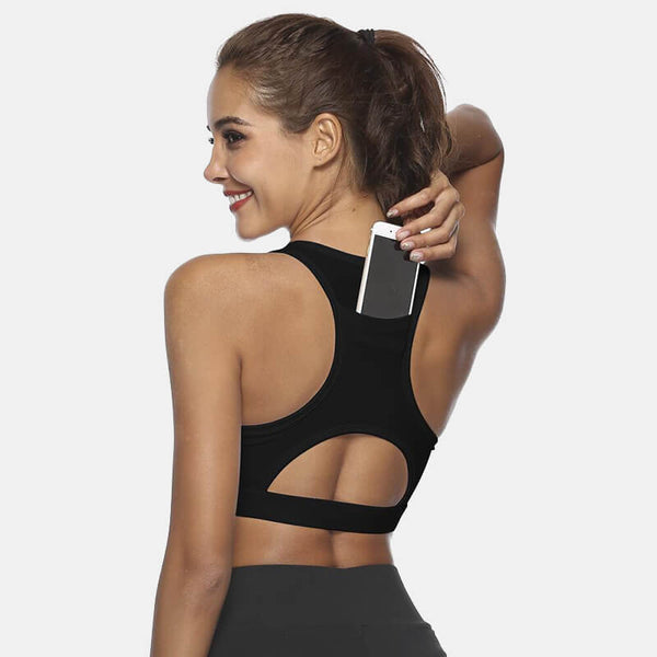 Women's Back Pocket Sports Bra - CTHOPER