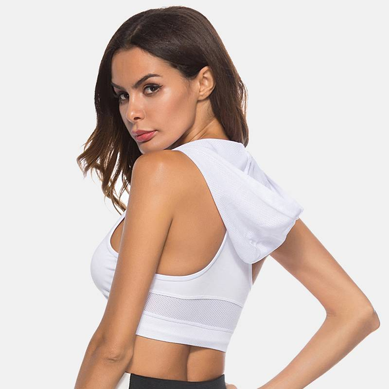 Women's Hooded Sports Bra - CTHOPER
