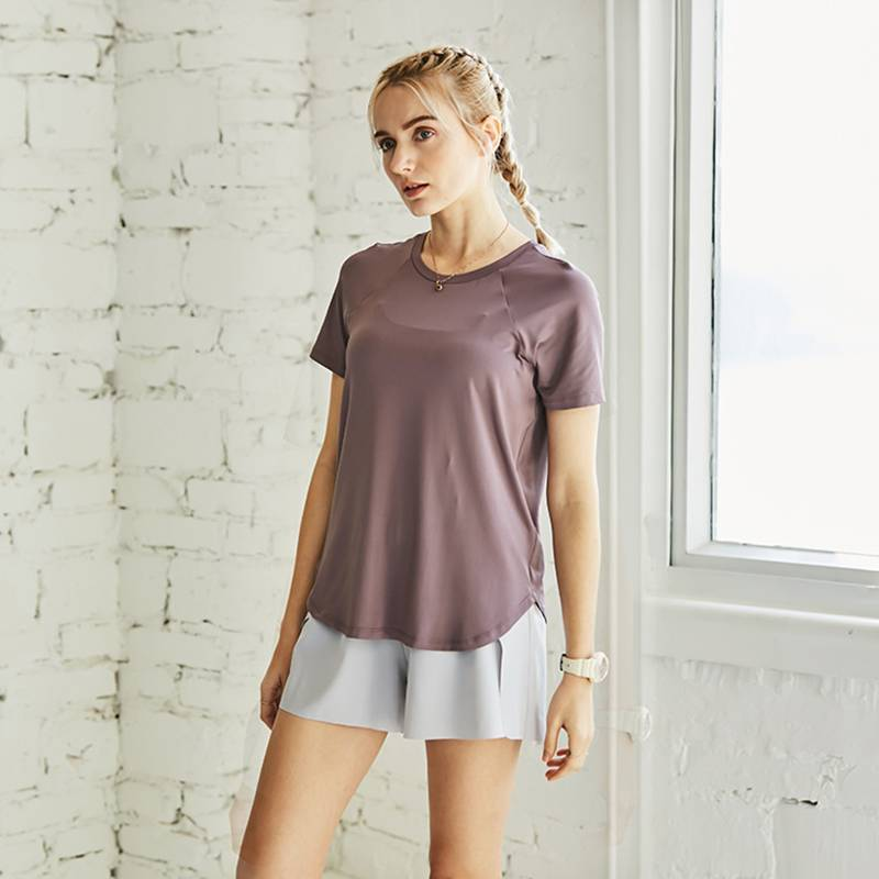 Women's Short Sleeve Quick Dry Loose T Shirts - CTHOPER