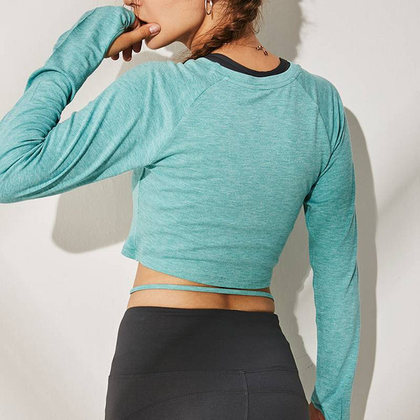 "Women's ""GYM STAR"" Long Sleeve Crop Tops - CTHOPER"