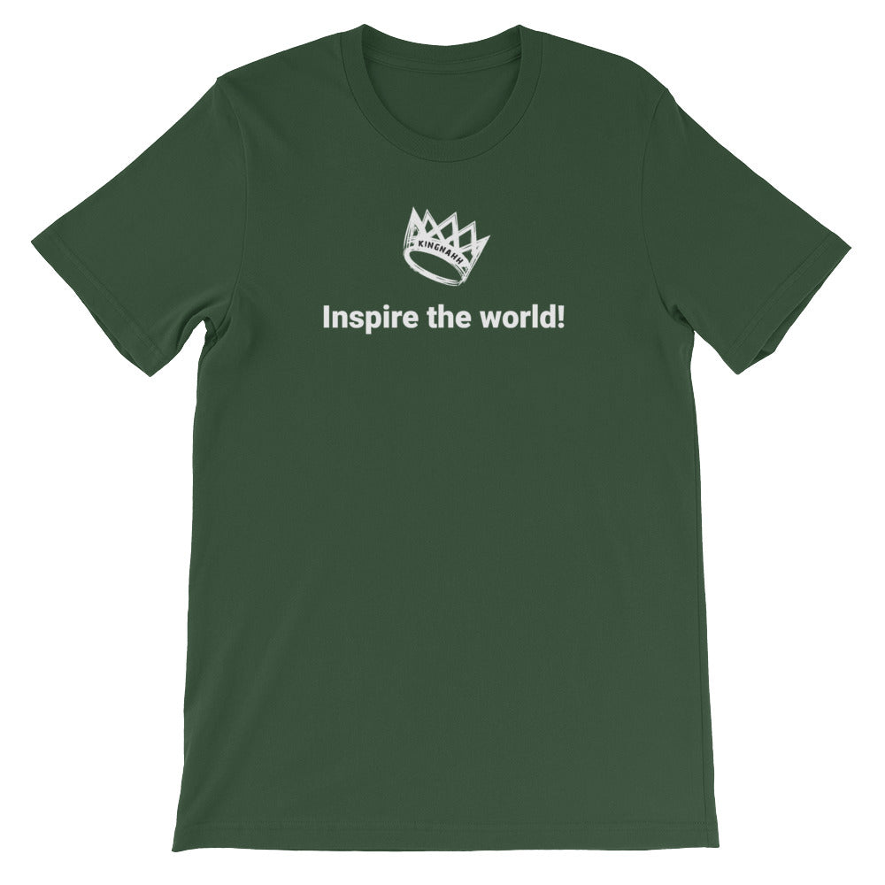 "Adult Unisex ""Inspire The World"" T-Shirt"