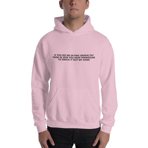 "Adult Unisex ""Unhealthy Food"" Hoodie"