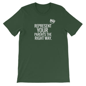 "Adult Unisex ""Rep Your Parents Right"" T-Shirt"