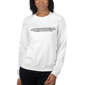 "Adult Unisex ""Unhealthy Food"" Sweatshirt"