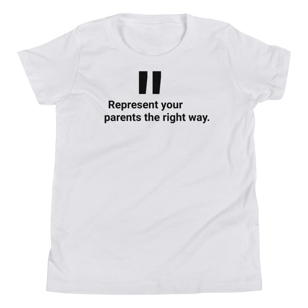 "Youth ""Rep Your Parents"" T-Shirt"