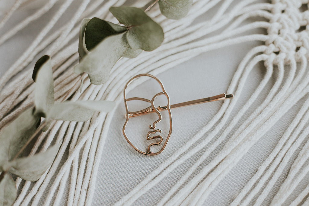 Abstract Face Barrette