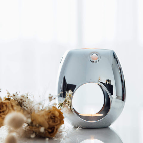 Silver Tea Light Burner