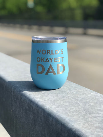 World's Okayest Dad 😂 (Father's Day Edition) Cup-Popp's Trophies