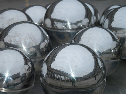 Paris. Metallics spheres at The Louvre - Landscape Photography Print