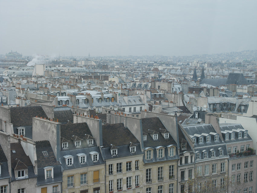 Paris. Romantic Rooftops 001 - Landscape Photography Print