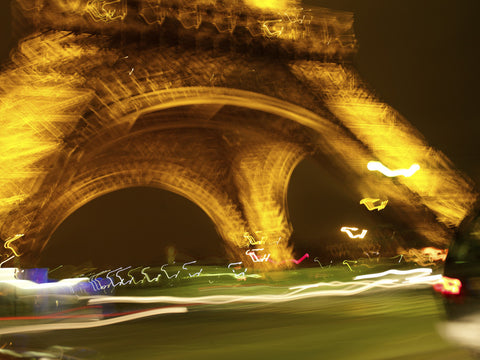 Paris. Eiffel Tower at Night 001 - Landscape Photography Print