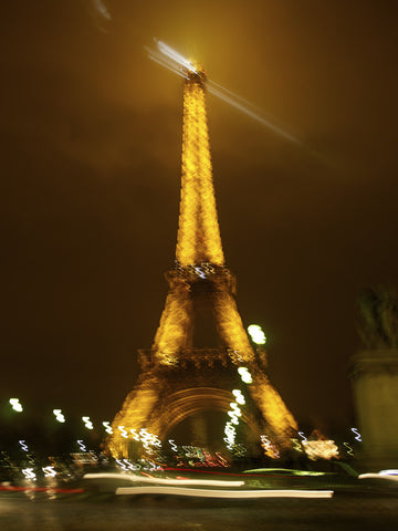 Paris. Eiffel Tower at Night 002 - Landscape Photography Print