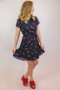 Cherry Flounce Dress
