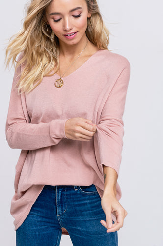 Starla Sweater in Blush