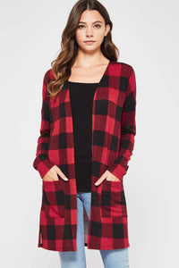 Charley Buffalo Check Long Cardigan