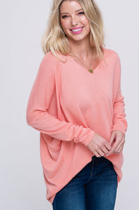 Starla Sweater in Coral