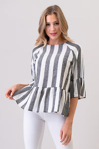 Echo Ruffled Hem Top