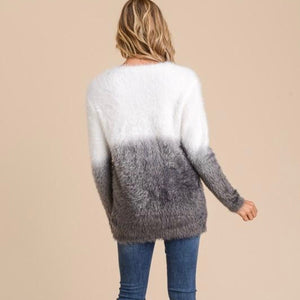 Fallon Ombre Dip-Dyed Sweater