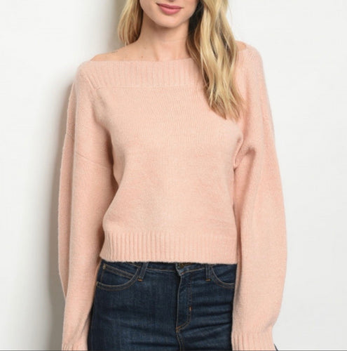 Shelby Blush and Bashful Cropped Sweater