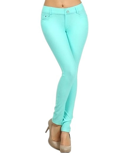 Yelete Jeggings in Turquoise
