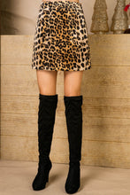 Load image into Gallery viewer, Jade Leopard Mini Skirt