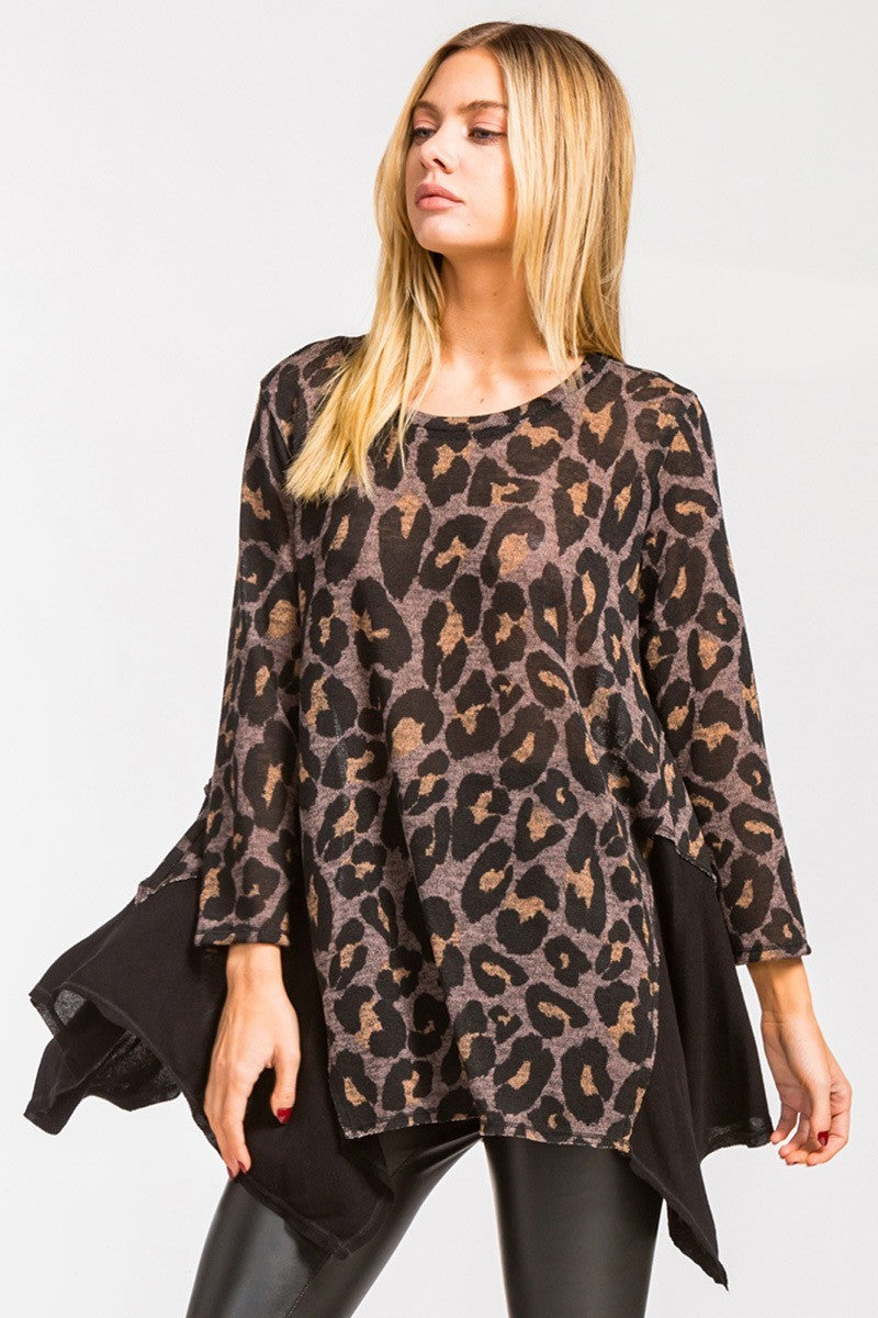 Maci Leopard Long Sleeve Blouse